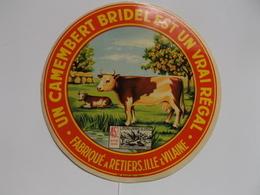ETIQUETTE/CAMEMBERT/BRIDEL/RETIERS/ILLE ET VILAINE - Cheese