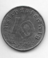 *third Reich 10 Pfennig 1941 J Km 101    Vf+ - 10 Reichspfennig