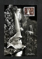 SUISSE - HELVETIA - Carte Maximum 1954 - Biel - Bienne - Taubenlochschlucht - Cartoline Maximum