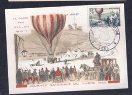 Carte Federale Ballon Journee Du Timbre 1955 Lens - Cartas Máxima