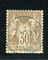 Rare N° 69 - Cachet à Date Bleu Des Dardanelles ( Turquie 1877 ) - 1876-1878 Sage (Type I)