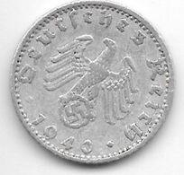 *third Reich 50 Pfennig 1940 A  Km 96   Vf - [ 4] 1933-1945 : Third Reich