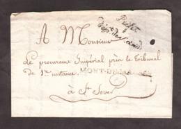 """LSC - Non Datée - Griffes """"Préfet Dépt Des Landes"""" + """"39 Mont De Marsan"""" - Pour Procureur Impérial à St Sever - Marcophilie (Lettres)"""