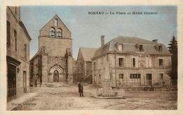 Sornac * La Place Et Hôtel Central - Autres Communes