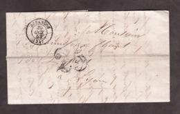 LAC - 20 Octobre 1853 - Besançon Pour Lyon - Port Dû Taxe 25 - Marcophilie (Lettres)