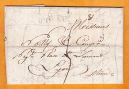 1819 - Marque Postale 56 COSNE, Nièvre Sur Lettre Pliée Avec Correspondance De 3 Pages Vers Lyon, Rhône - Marcophilie (Lettres)