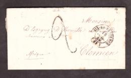 LAC - 1849 - Aix En Provence > Tlemcen (Afrique) - Port Dû 2 Déc.façon Manuscrite - Dos :T15 Algérie/Tlemcen + Marseille - Marcophilie (Lettres)