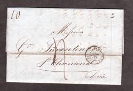 LAC - 4 Décembre 1847 - St Etienne Pour St Chamond - Port Dû 4 Décimes - Marcophilie (Lettres)