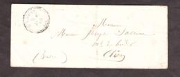 LSC - 9 Janvier 1860 - T22 St Flovier (Indre Et Loir) Pour Clion (Indre, T22 Au Dos) Par Loches - Ni Timbre Ni Taxe - Marcophilie (Lettres)