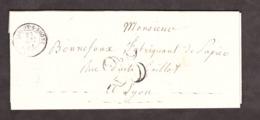 LAC - 23 Mai 1851 - Tarascon Sur Rhône Pour Lyon - Port Dû Taxe 25 - Marcophilie (Lettres)