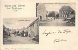 WEYER (67) - Rue Du Village Et Restaurant Walther - Ecole Et Salle Communale. - Otros Municipios