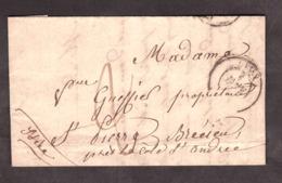 LAC - Janvier 1850 - Lyon Pour St Pierre De Bressieux - Port Dû 2 Décimes - Marcophilie (Lettres)