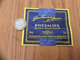 Etiquette Vin * «RIVESALTES - Guillaume D'Arria - SIVIR (66) Pour SC GALEC - ISSY-LES-MOULINEAUX (92)» - Languedoc-Roussillon