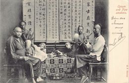 CHINA - Opium And Pipe Smokers - Publ. O. F. Ribeiro. - China