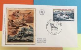 Sauvetage En Mer - Paris - 27.4.1974 - FDC 1er Jour - Coté 2€ Y&T - FDC