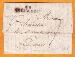1818 - Marque Postale 88 SAINT CHAMONT Chamond Sur Lettre Pliée Avec Correspondance De 3 Pages Vers PARIS - Marcophilie (Lettres)