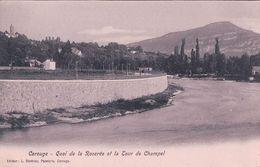 Genève Carouge, Quai De La Roseraie Et Tour De Champel (633) - GE Ginevra