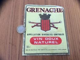 Etiquette Vin «RIVESALTES - GRENACHE - SMCB - LORIENT (56)» - Languedoc-Roussillon