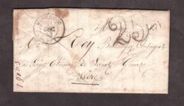 LAC - 31 Décembre 1853 - OR L'isle En Barrois - Bar Le Duc Pour St Etienne De St Geoirs (Isère) - Port Dû Taxe 25 - Marcophilie (Lettres)