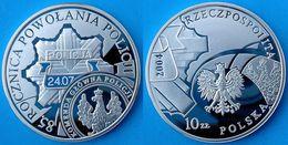 POLAND 10 Z 2004 ARGENTO PROOF SILVER POLISH POLICE PESO 14,14g. TITOLO 0,925 CONSERVAZIONE FONDO SPECCHIO UNC. - Poland