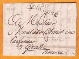 1812 - Marque Postale 30 TOULOUSE Sur Lettre Pliée Avec Correspondance Vers Grasse, Var à L'époque - Marcophilie (Lettres)