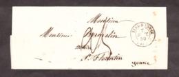 LSC - Septembre 1850 - Sens Sur Yonne Pour St Florentin (T14 Au Verso) - Port Dû Taxe 25 Manuscrite - Marcophilie (Lettres)