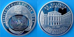 POLAND 10 Z 2009 ARGENTO PROOF SILVER HOLOGRAM ROCZNICA UTWORZENIA NIK PESO 14,14g. TITOLO 0,925 CONSERVAZIONE FONDO SPE - Poland