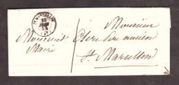 LAC - 30 Juin 1854 - St Marcellin Pour St Marcellin - Port Dû 1 Décime - Marcophilie (Lettres)