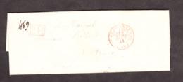 LAC - Septembre 1841 - CàD 1301 Paris Bureau Central (rouge) Pour Valence - Port Payé 8 Décimes - Marcophilie (Lettres)