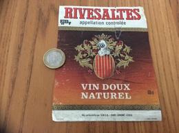 Etiquette Vin «RIVESALTES - SMCB - LORIENT (56)» - Languedoc-Roussillon
