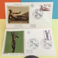 Europa CEPT  1974 - Maillol - Rodin - Paris - 20.4.1974 - FDC 1er Jour - Coté 2,20€ Y&T Lot 2 FDC - FDC