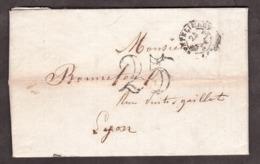 LAC - 24 Mars 1851 - Montélimart Pour Lyon - Port Dû Taxe 25 - Marcophilie (Lettres)
