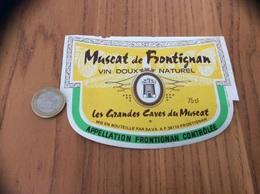 Etiquette Vin «MUSCAT DE FRONTIGNAN - SAVA - FRONTIGNAN (34)» Type 1 - Languedoc-Roussillon