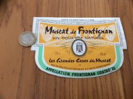 Etiquette Vin «MUSCAT DE FRONTIGNAN - SAVA - FRONTIGNAN (34)» Type 2 - Languedoc-Roussillon