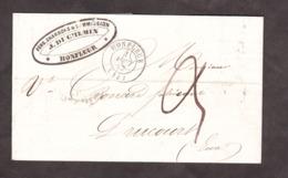 LSC - 1er Août 1847 - Honfleur Pour Drucourt - Port Dû 3 Décimes - VS : T14 Thiberville X2 + T15 Lisieux - Marcophilie (Lettres)