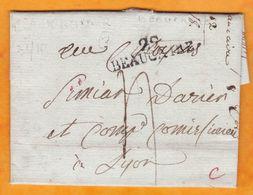 1803 - An IX - Marque Postale 29 BEAUCAIRE, Gard  Sur Lettre Pliée Avec Correspondance Vers Lyon, Rhône - Marcophilie (Lettres)