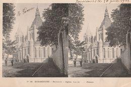 BELGIQUE BONSECOURS  PERUWELZ Eglise Vue De     France  Image Double Tbe - Péruwelz