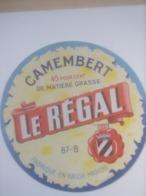ETIQUETTE/CAMEMBERT/LE REGAL/FABRIQUE EN BASSE MARCHE - Cheese