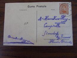 18-19: Carte Vue De Casteau Affranchie à 1C Et Oblitérée Du RELAIS De MAISIERES (SANS LE DATEUR INTERIEUR) - Poststempels/ Marcofilie