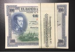 Spain España Espagne 1 PCS 1 NOTE 1 BANKONOTE 100 Pesetas 1925 UNC - [ 2] 1931-1936 : Repubblica