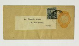 Bande De Journal 1907, Newspaper Strip, Pour Paris, Entier Postal 40 Reis + Complément 10 Reis - Brazil