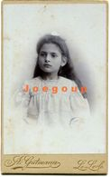 Photo Carte De Visite Gutmann Portrait Little Girl Le Locle Switzerland - Old (before 1900)