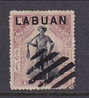 North Borneo - Labuan: 1897/1901   Dyak Chief 'Labuan' OVPT     SG89    1c  Dull Claret   [Perf: 14½-15]    Used CTO - Bornéo Du Nord (...-1963)