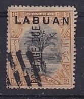 North Borneo - Labuan: 1901   Postage Due - Travellers' Tree 'Labuan' OVPT     SG D2    3c  [Perf: 13½-14]    Used CTO - Bornéo Du Nord (...-1963)