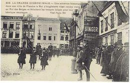CPA BELGIQUE FLANDRES DIVERS - Le Roi D'Angleterre Rend Visite Au Roi Des Belges Et Félicite Les Troupes Belges 1914-16 - Non Classificati