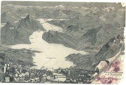 Cartina  Laghi  Primi  Novecento  Stato  Come Scansione - Postcards