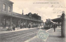 59-AULNOYE BERLAIMONT-QUAIS DE LA GARE-LOCOMOTIVE-N°2045-H/0241 - Aulnoye