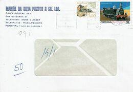 Portugal , 1990 , 100 Years Estação Do Rossio Stamp , Steam  Train , Manuel Silva Peixoto , Funchal , Madeira - Eisenbahnen
