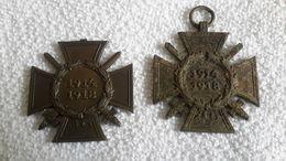 2 X Frontkämpfer Abzeichen Orden 1914 - 1918 - 1914-18