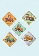 Mongolie - Lot 5 Timbres Les Tracteurs Agricoles - Année 1982 - YT 1199 à 1203 - Mongolie